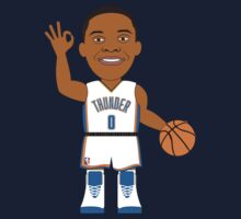 NBAToon of Russell Westbrook, player of Oklahoma City Thunder by D4RK0