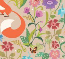Flower Foxes Sticker
