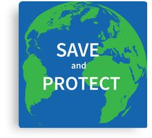 Save and protect Canvas Print
