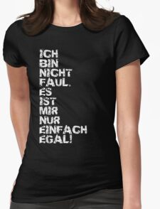 Faul Womens Fitted T-Shirt