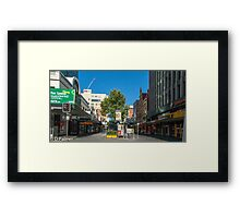 Rundle Mall - From Pulteney Street Intersection Framed Print