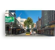 Rundle Mall - From Pulteney Street Intersection Metal Print