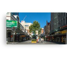 Rundle Mall - From Pulteney Street Intersection Canvas Print