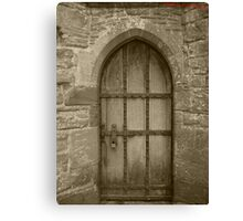 This may be locked but the door of love is not Canvas Print