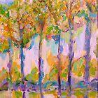 Glowing Autumn Trees by artqueene