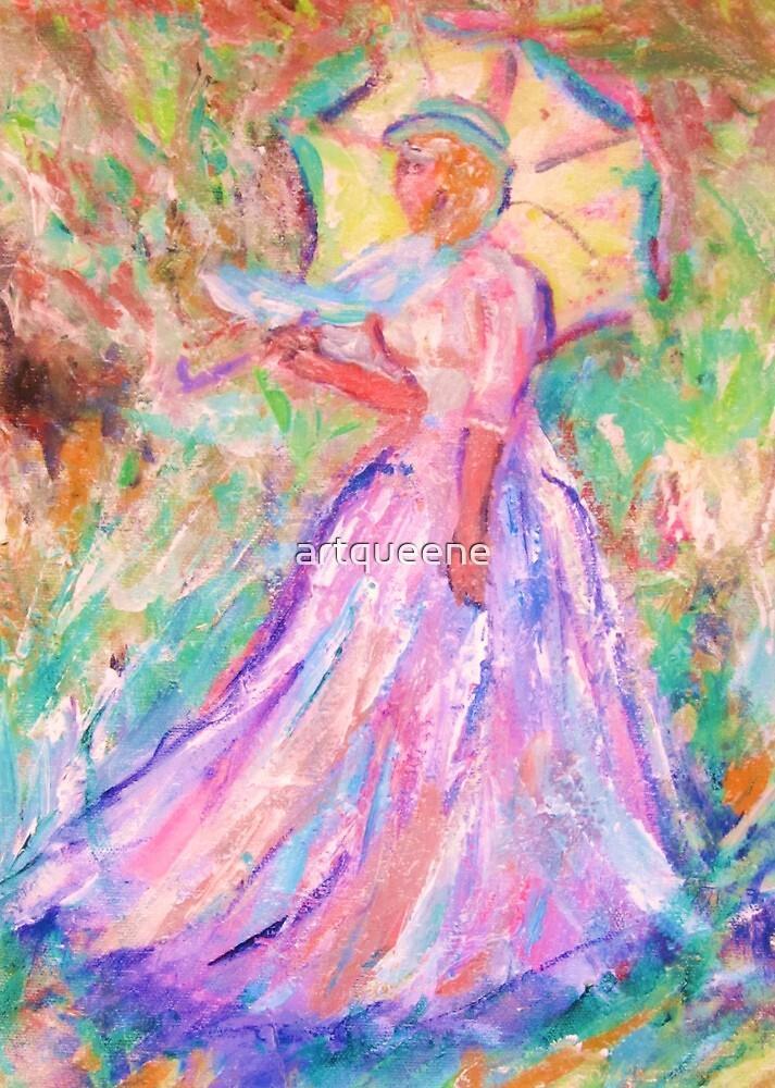 Victorian Lady with umbrella by artqueene