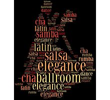 Dancing pair as words cloud design Photographic Print