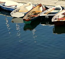 Tied up skiffs by EMASPhotography