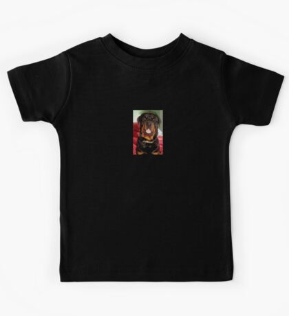 Portrait Of A Young Rottweiler Male Dog Kids Tee