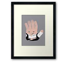 Hand Solo Framed Print