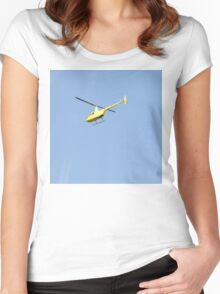 Yellow R44 Helicopter Women's Fitted Scoop T-Shirt