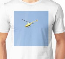 Yellow R44 Helicopter Unisex T-Shirt