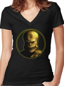 Arch-Vile 3D Women's Fitted V-Neck T-Shirt