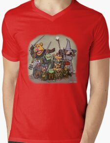 Fellowship of the Muppets Mens V-Neck T-Shirt