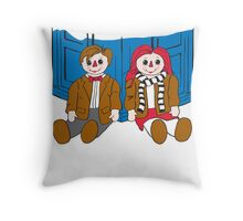 Raggedy Man and Amy-variant Throw Pillow