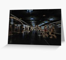 4 of 6: The Commute:  Early crisscross under Park Greeting Card