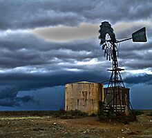 Windmill and water tank by outbacksnaps