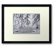 Winter baseball!  Framed Print