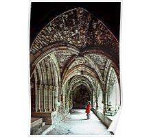 Marj in C10 Cloisters of Fenelon Abbey Carennac 19840227 0068  Poster