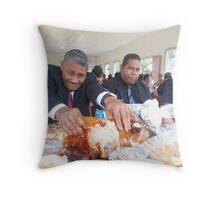 Tongan Sunday Feasting Throw Pillow
