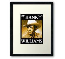 Country Singer, Hank Williams Framed Print
