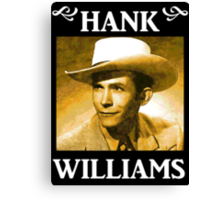 Country Singer, Hank Williams Canvas Print