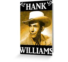 Country Singer, Hank Williams Greeting Card