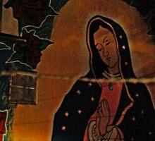 Virgin Guadalupe Mural, New Mexico by Derek Lowe