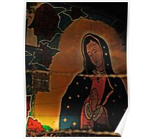 Virgin Guadalupe Mural, New Mexico Poster