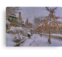 Never ending winter Canvas Print
