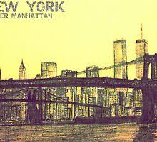 Lower Manhattan Sketch by SumnerLee