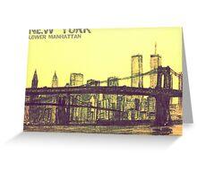 Lower Manhattan Sketch Greeting Card