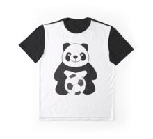 Panda with a soccer ball Graphic T-Shirt