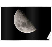 Moon Jupiter Conjunction, Feb 18 2013 Poster