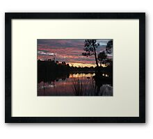 SummerSunSet Framed Print