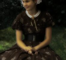 Sweet Victorian Girl - Please View Large by Judith Hayes