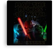 Alvin And The Chipmunks may the munks be with you munks wars 2015 Canvas Print