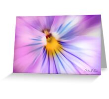 Party Time Pansy Greeting Card
