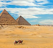 Khafre & Cheops Pyramids2. by bulljup
