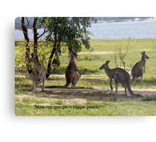 Bigger pouch mom Metal Print