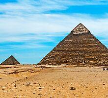 Khafre & Menkaure & Queen Pyramids. by bulljup