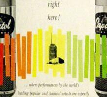 Capitol Full Dimensional Stereo, 1950's Inner Sleeve Sticker