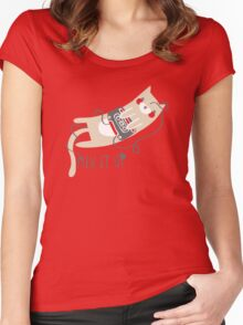 Mixtape Kitty Women's Fitted Scoop T-Shirt