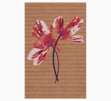 Hand print flower One Piece - Short Sleeve