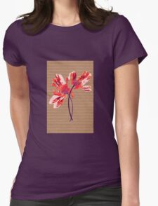 Hand print flower Womens Fitted T-Shirt