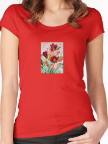 A Beautifully Bold Floral Bouquet of Tulips Women's Fitted Scoop T-Shirt