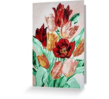 A Beautifully Bold Floral Bouquet of Tulips Greeting Card