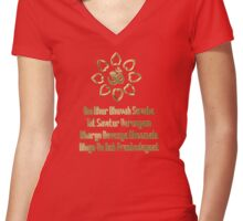Gayatri mantra Women's Fitted V-Neck T-Shirt