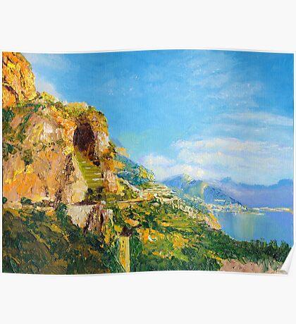 Amalfi Cave Vineyard Poster