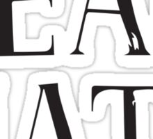 Team Nate - black text Sticker